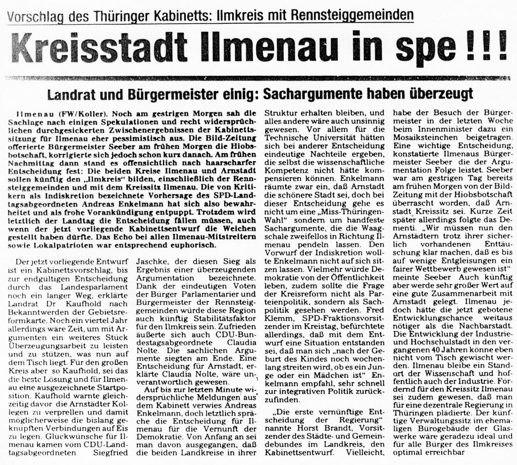 03-03-93 Kreisstadt Ilmenau in spe!!!