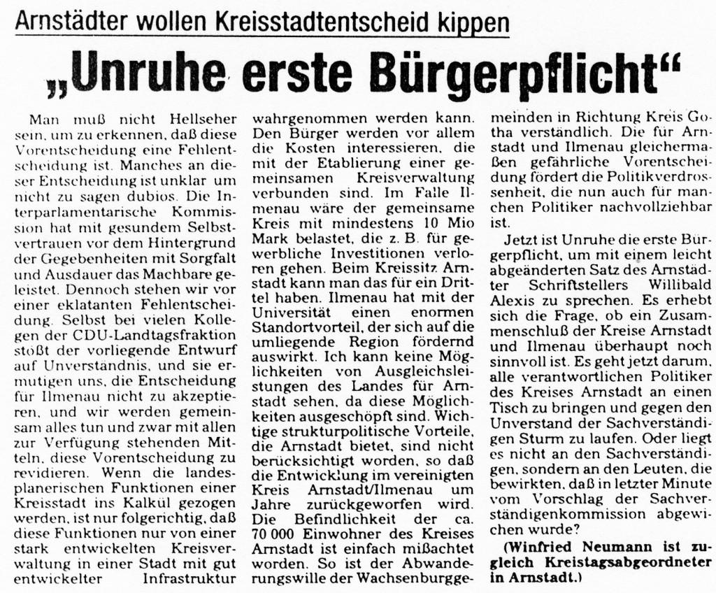 """05-03-93 """"Unruhe erste Bürgerpflicht"""""""