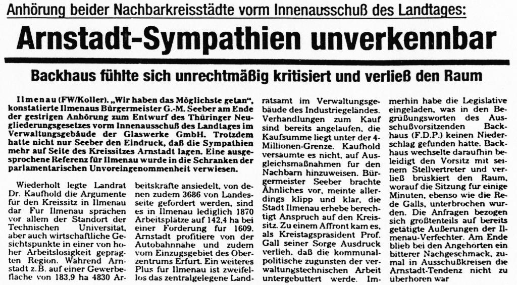 06-07-93 Arnstadt-Sympathien unverkennbar