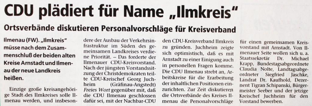 """09-11-93 CDU plädiert für Name """"Ilmkreis"""""""