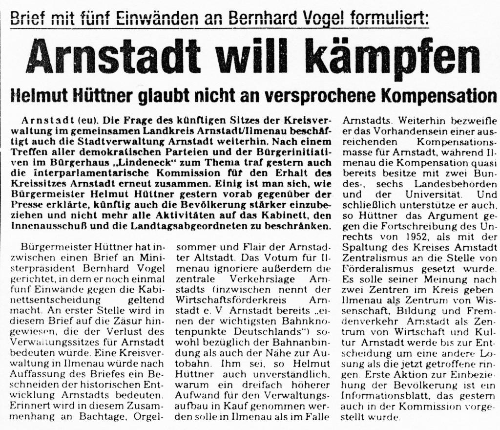 10-03-93 Arnstadt will kämpfen