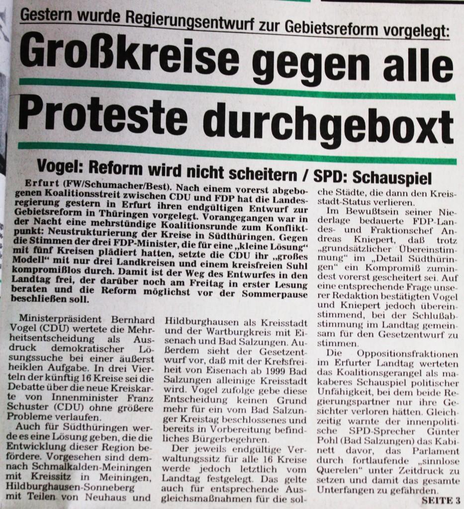 12-05-93 Großkreise gegen alle Proteste durchgeboxt