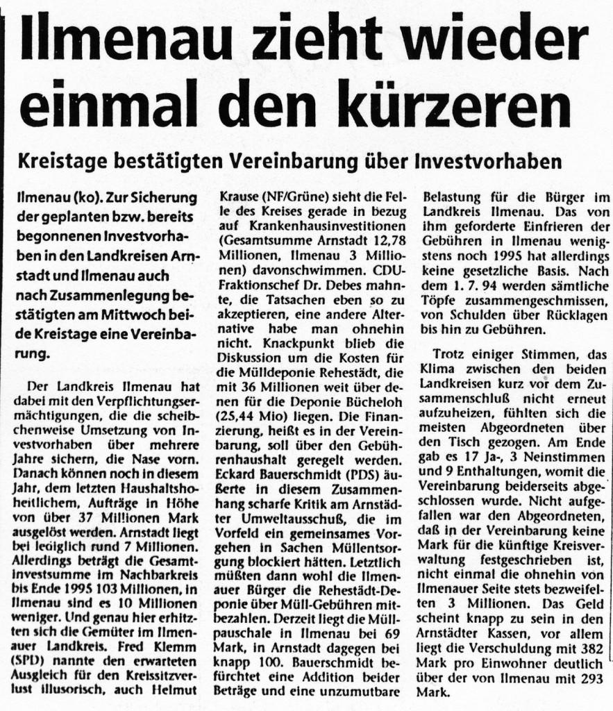 20-05-94 Ilmenau zieht wieder einmal den kürzeren