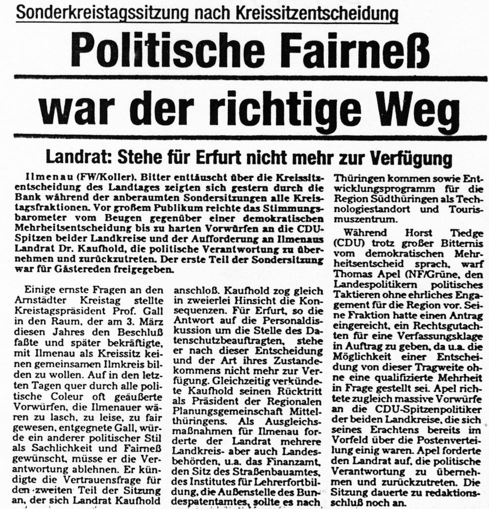 20-07-93 Politische Fairneß war der richtige Weg
