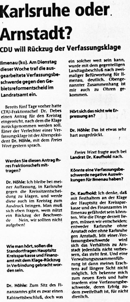 21-01-94 Karlsruhe oder Arnstadt?