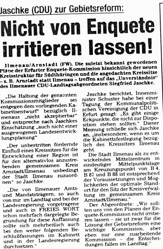 23-04-93 Nicht von Enquete irritieren lassen!
