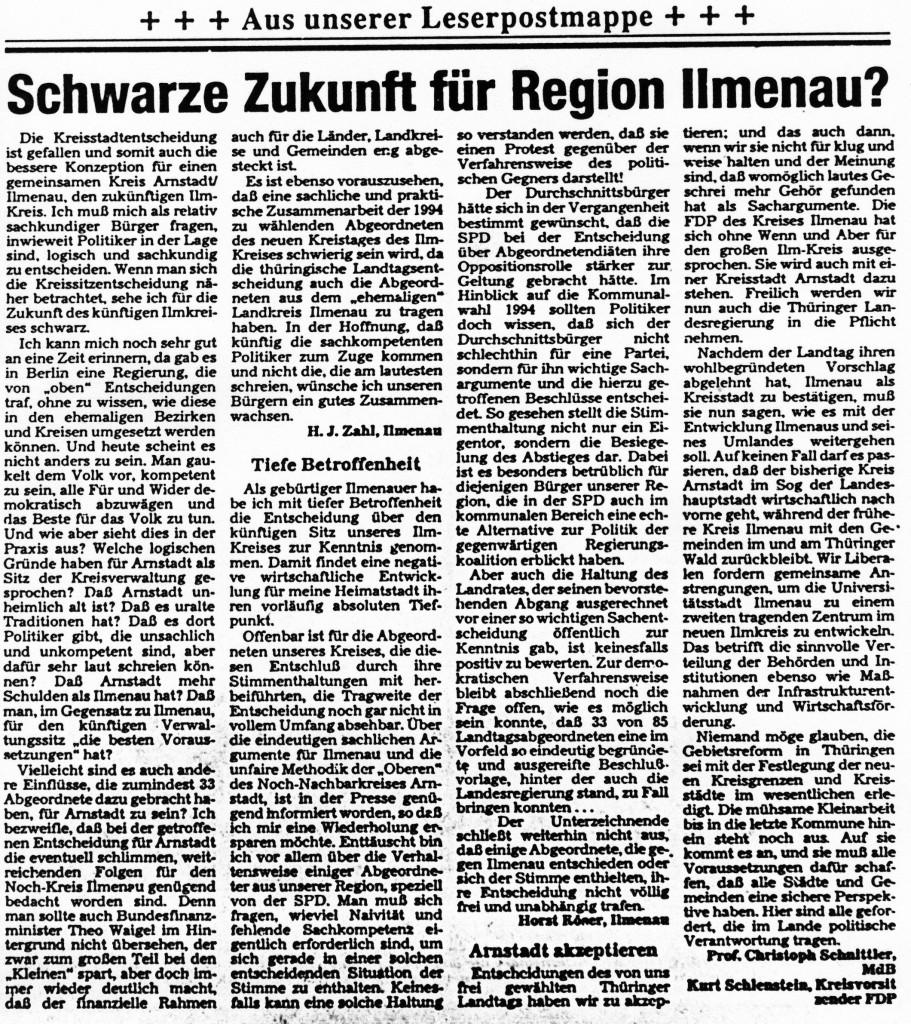 23-07-93 Schwarze Zukunft für Region Ilmenau?