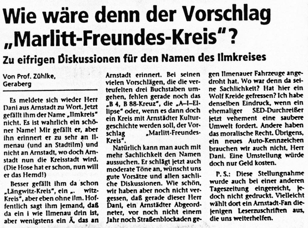 """25-01-94 Wie wäre denn der Vorschlag """"Marlitt-Freundes-Kreis""""?"""