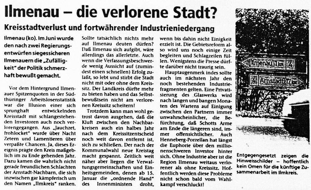 31-12-93 Ilmenau - die verlorene Stadt?