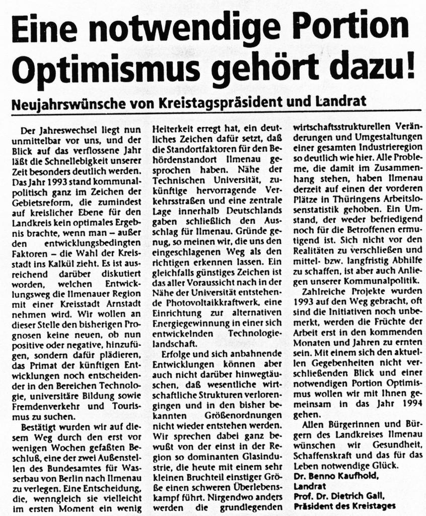 31-12-93 Eine notwendige Portion Optimismus gehört dazu!